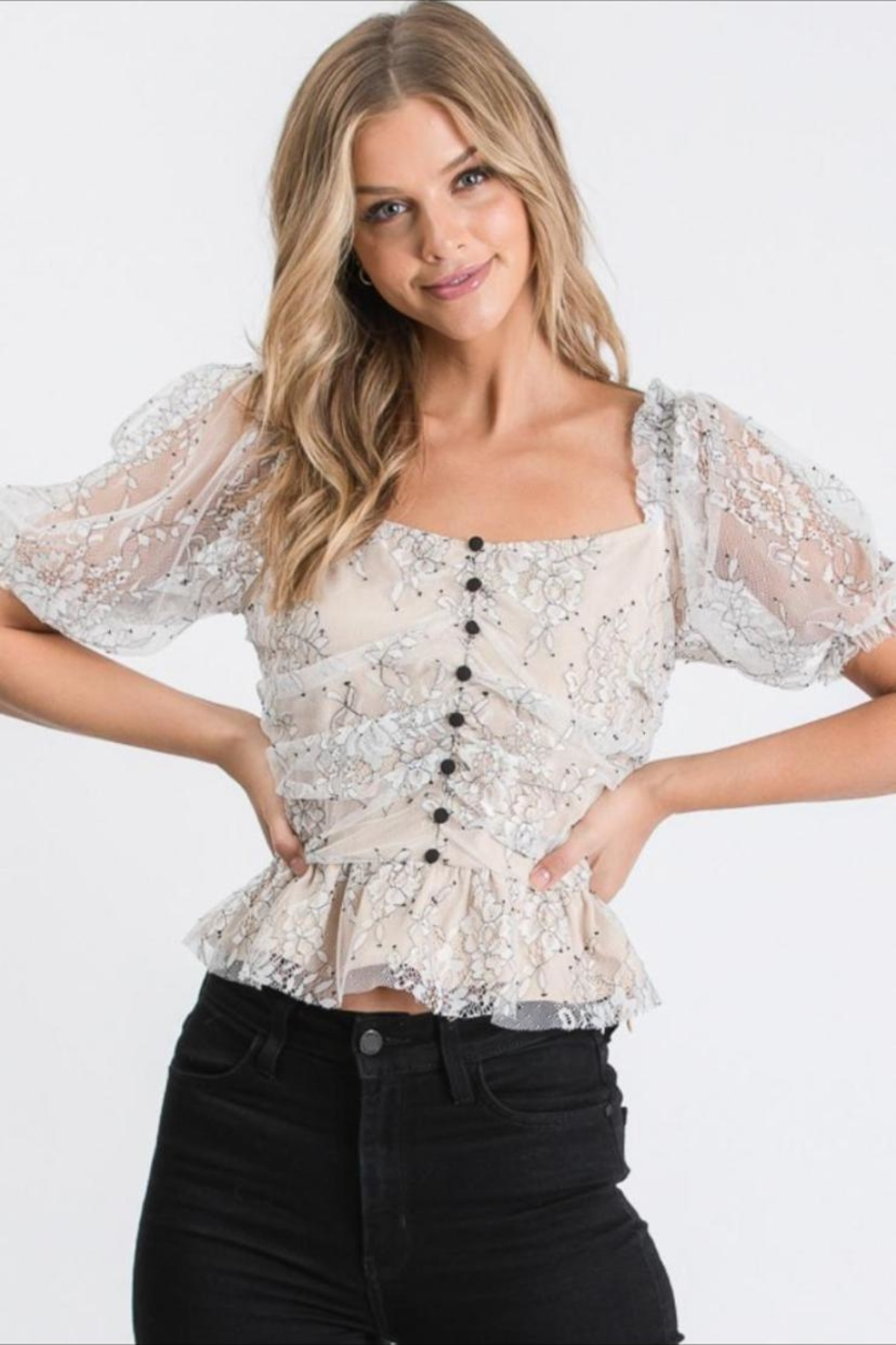 Idem Ditto  Floral Lace Blouse - Main Image