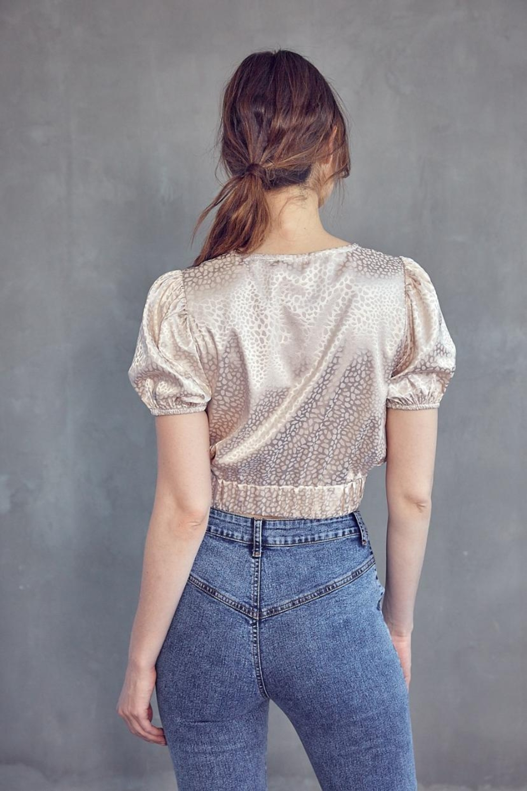 Idem Ditto  Jacquard Crop Top - Side Cropped Image
