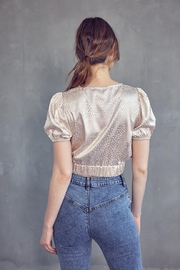Idem Ditto  Jacquard Crop Top - Side cropped