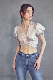 Idem Ditto  Jacquard Crop Top - Front full body