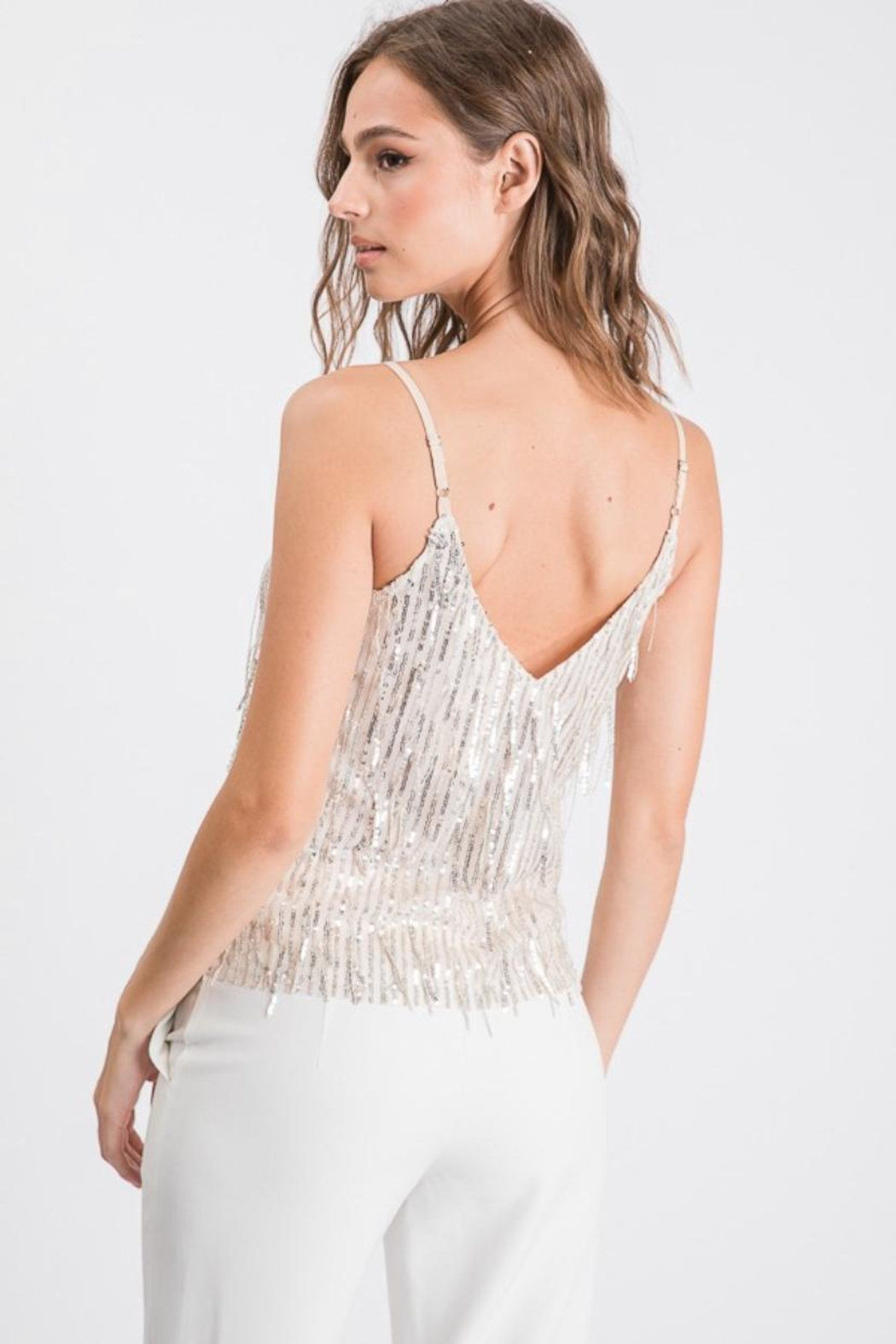 Idem Ditto  Layered Fringe Cami-Top - Front Full Image