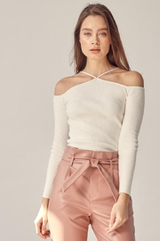 Idem Ditto  Off-Shoulder Ribbed Top - Product Mini Image