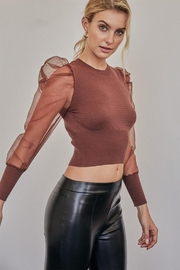 Idem Ditto  Organza Fitted Sweater - Front cropped