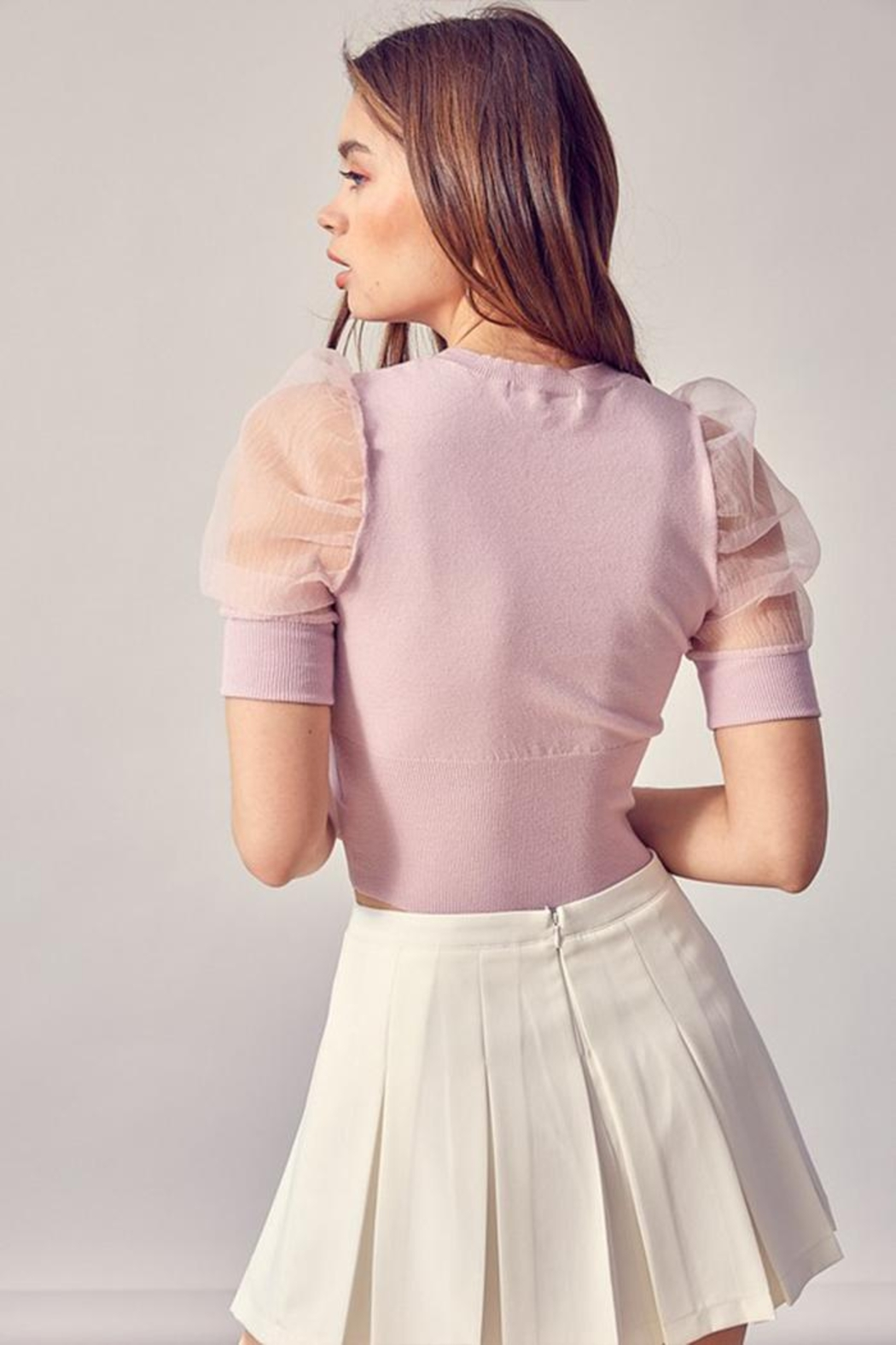 Idem Ditto  Organza Puff-Sleeve Top - Side Cropped Image