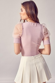 Idem Ditto  Organza Puff-Sleeve Top - Side cropped