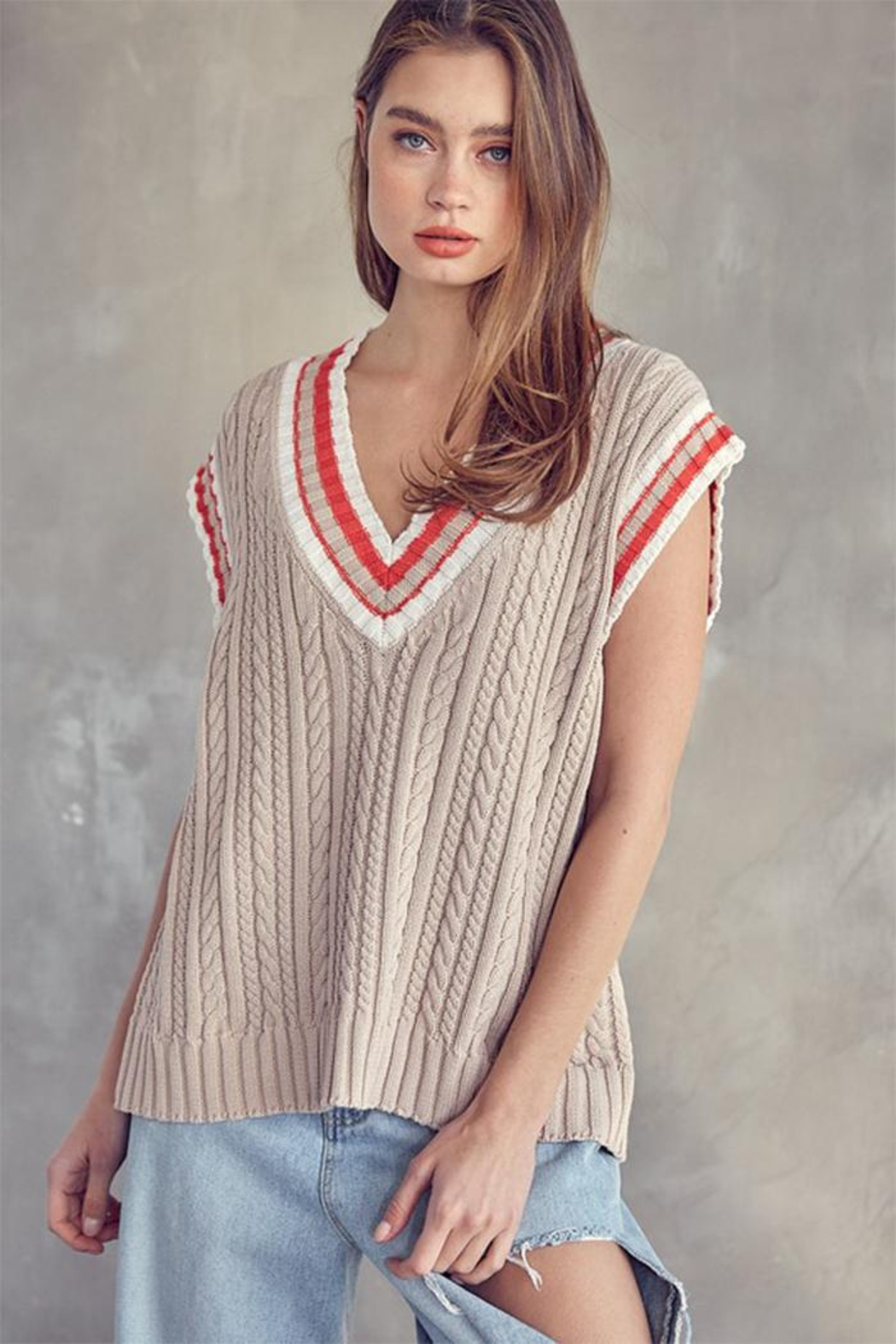 Idem Ditto  Oversized Sweater Vest - Main Image