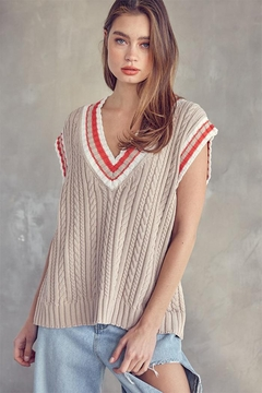 Idem Ditto  Oversized Sweater Vest - Product List Image