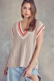Idem Ditto  Oversized Sweater Vest - Product Mini Image