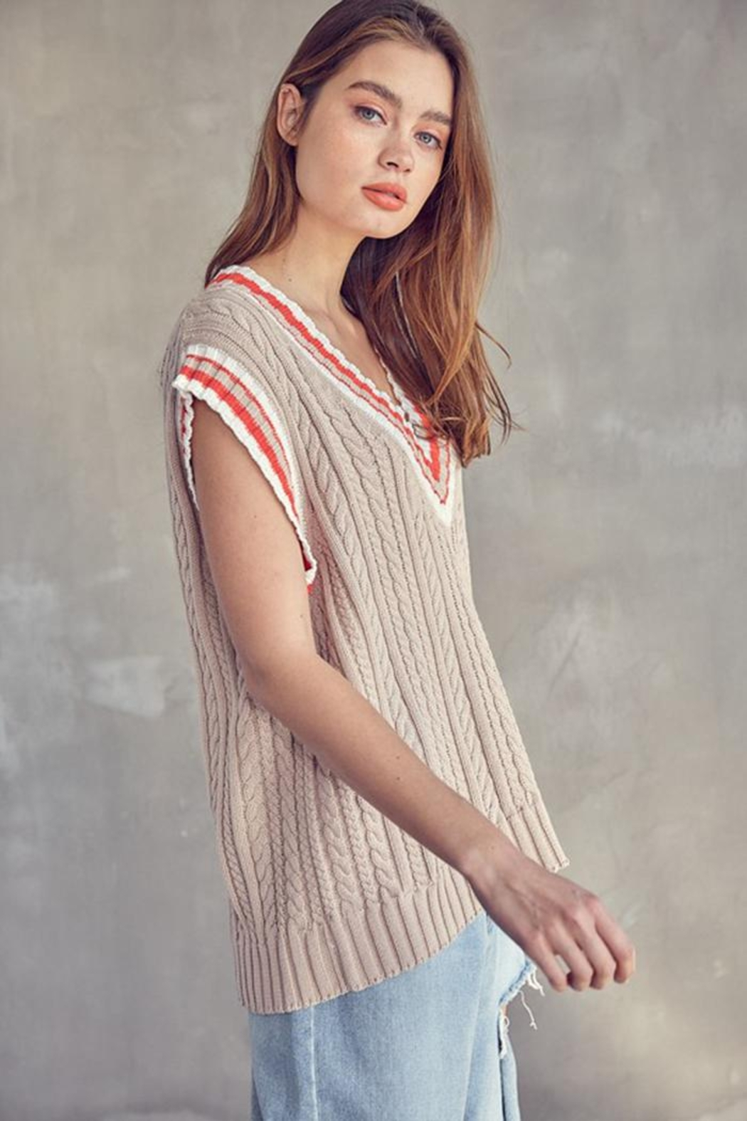 Idem Ditto  Oversized Sweater Vest - Side Cropped Image