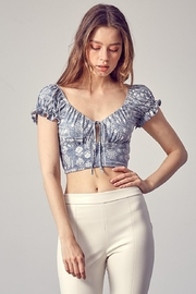 Idem Ditto  Paisley Crop Top - Product Mini Image