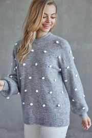 Idem Ditto  Pom Pom Sweater - Product Mini Image