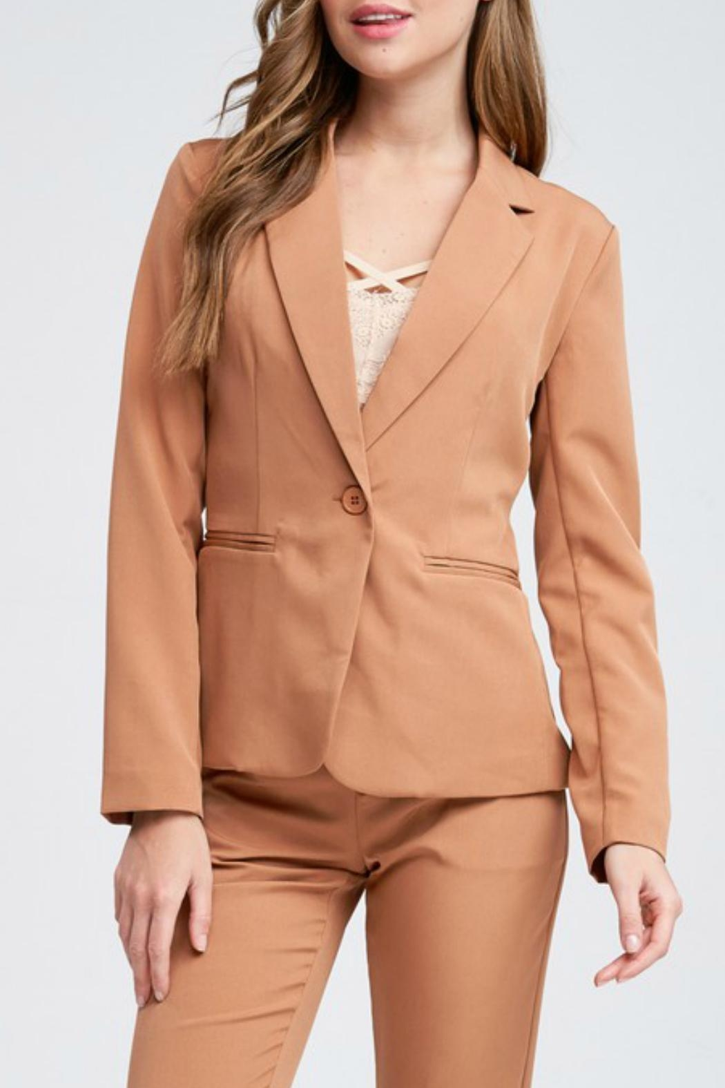 Idem Ditto  Pumpkin Spice Blazer - Front Cropped Image
