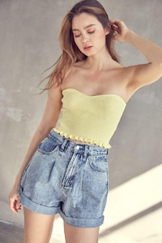 Idem Ditto  Ribbed Fabric Tube Crop Top - Back cropped