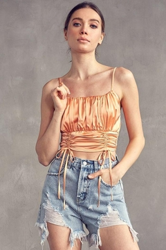 Idem Ditto  Ruched Satin Cami Top - Product List Image