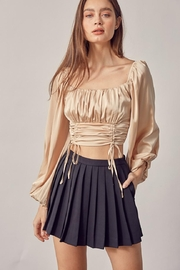 Idem Ditto  Ruched Satin Top - Front cropped