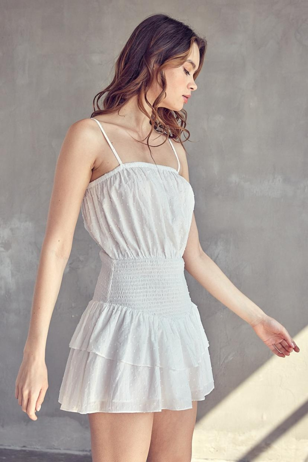 Idem Ditto  Ruffle Layered Romper - Side Cropped Image