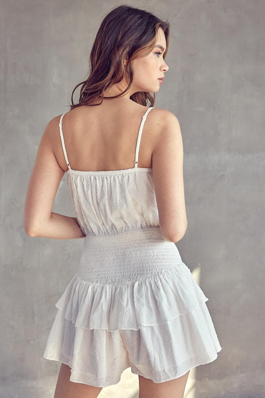 Idem Ditto  Ruffle Layered Romper - Back Cropped Image