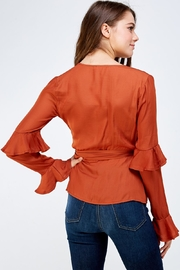 Idem Ditto  Rust Wrapped Blouse - Back cropped