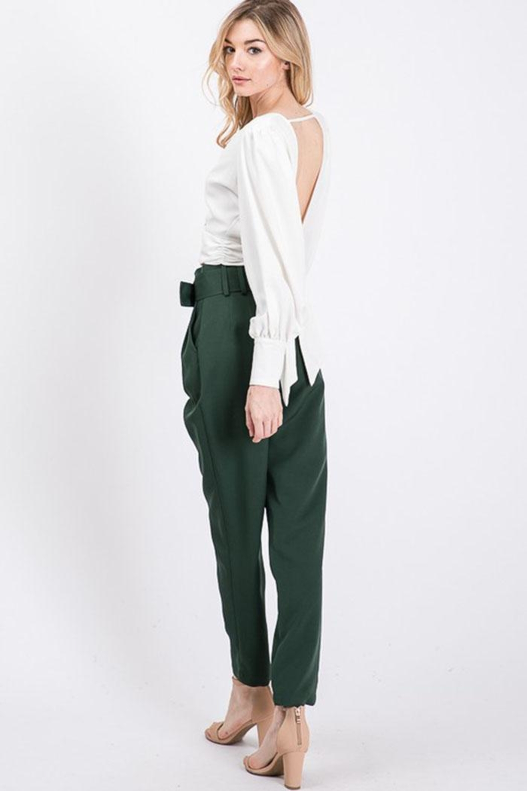 Idem Ditto  Semiformal Belted Pants - Front Full Image