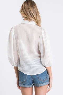 Idem Ditto  Sheer Button-Down Top - Alternate List Image