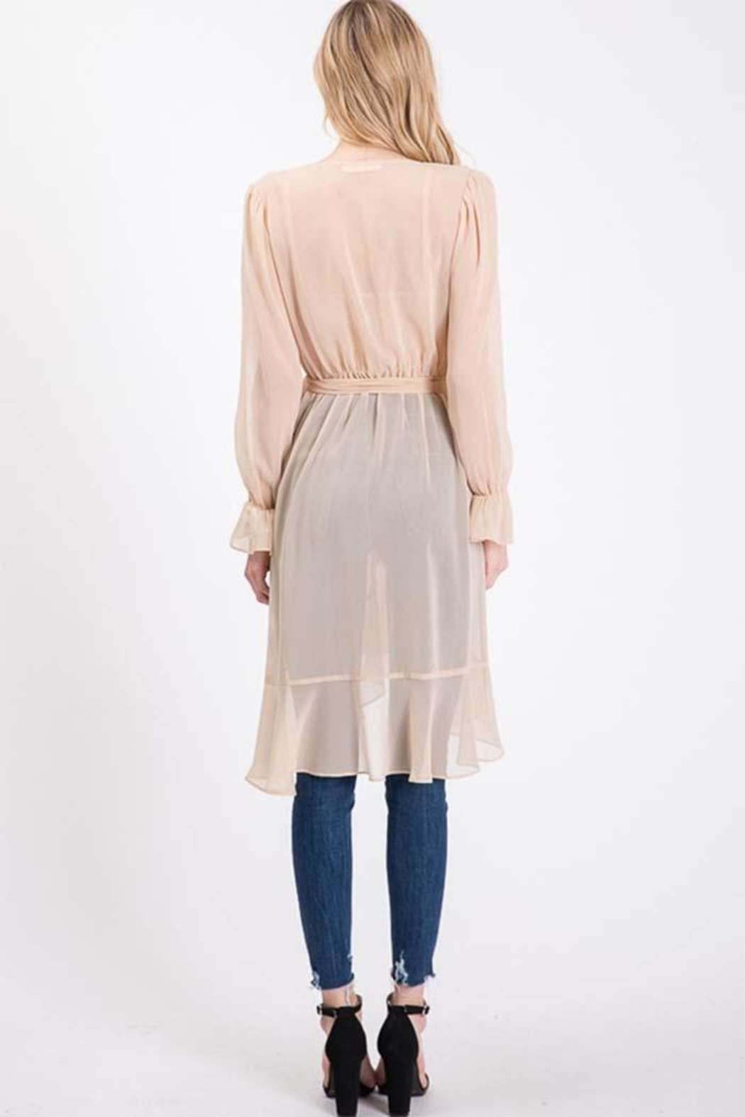 Idem Ditto  Sheer Cardigan Blouse - Side Cropped Image