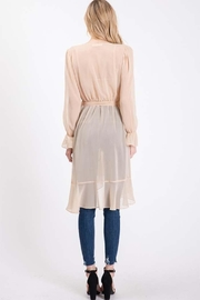 Idem Ditto  Sheer Cardigan Blouse - Side cropped