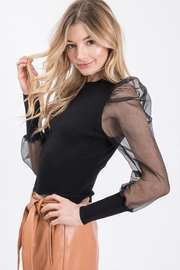 Idem Ditto  Sheer Sleeve Sweater - Front full body