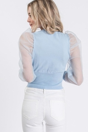 Idem Ditto  Sheer Sleeve Sweater - Side cropped