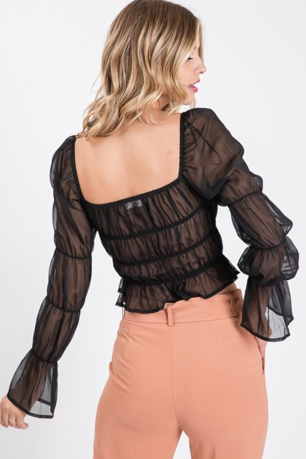 Idem Ditto  Shirring Blouse Top - Side Cropped Image