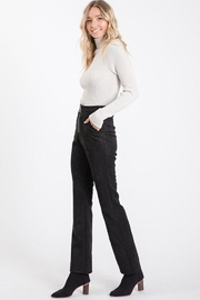Idem Ditto  Suede Flare Pants - Side cropped