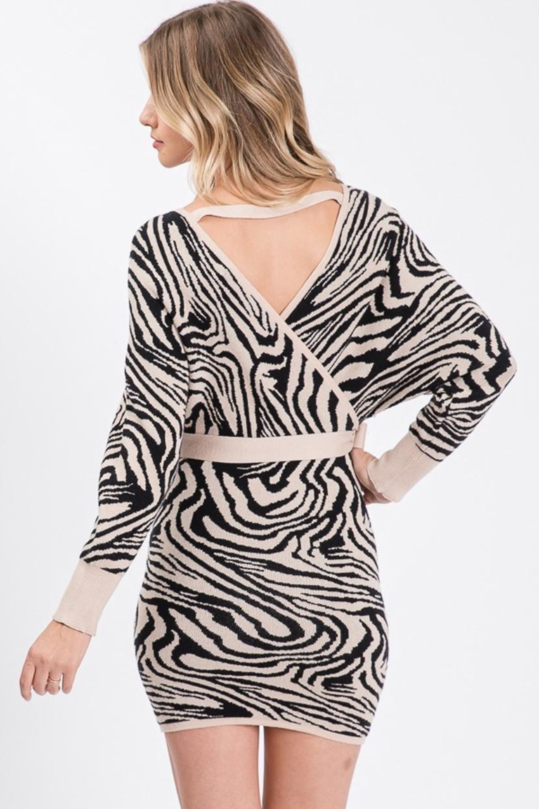 Idem Ditto  Sweater Mini Dress - Side Cropped Image