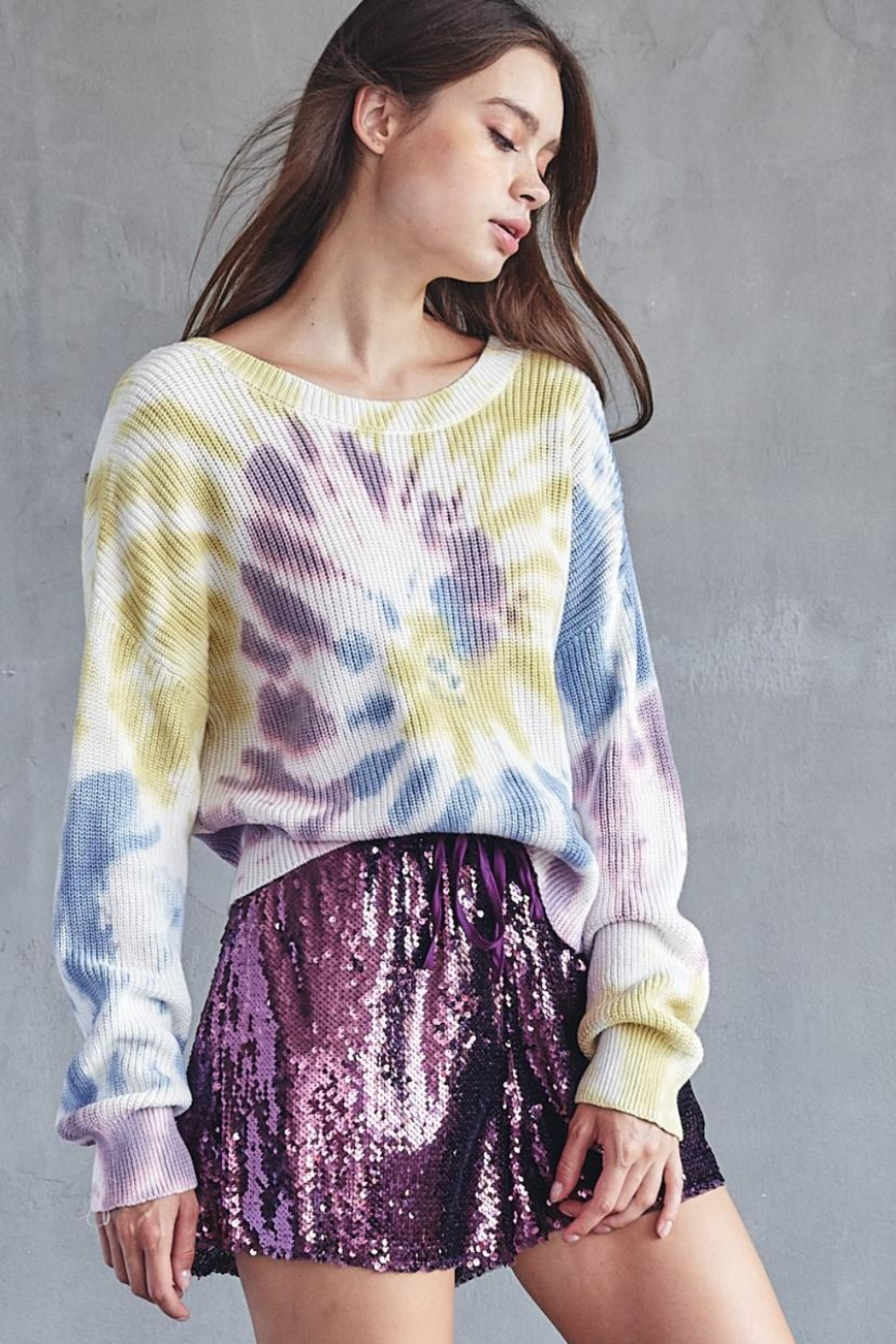 Idem Ditto  Tie Dye Sweater - Front Full Image
