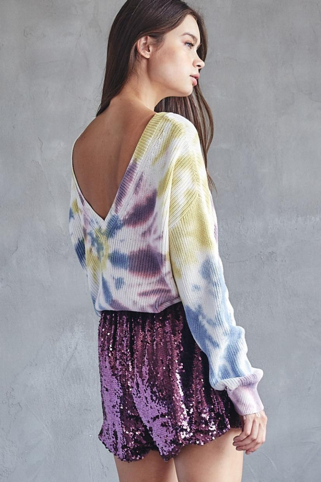 Idem Ditto  Tie Dye Sweater - Side Cropped Image