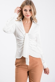 Idem Ditto  Tie Front Blouse - Product Mini Image