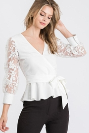 Idem Ditto  Tie Front Crochet-Top - Front cropped