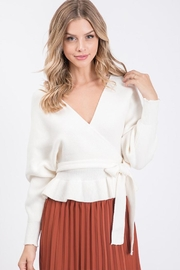Idem Ditto  Tie Wrapped Sweater - Product Mini Image
