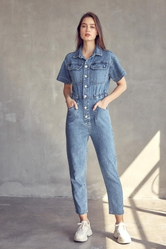 Idem Ditto  Utility Denim Jumpsuit - Product List Image