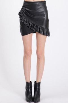 Shoptiques Product: Vegan-Leather Mini Skirt