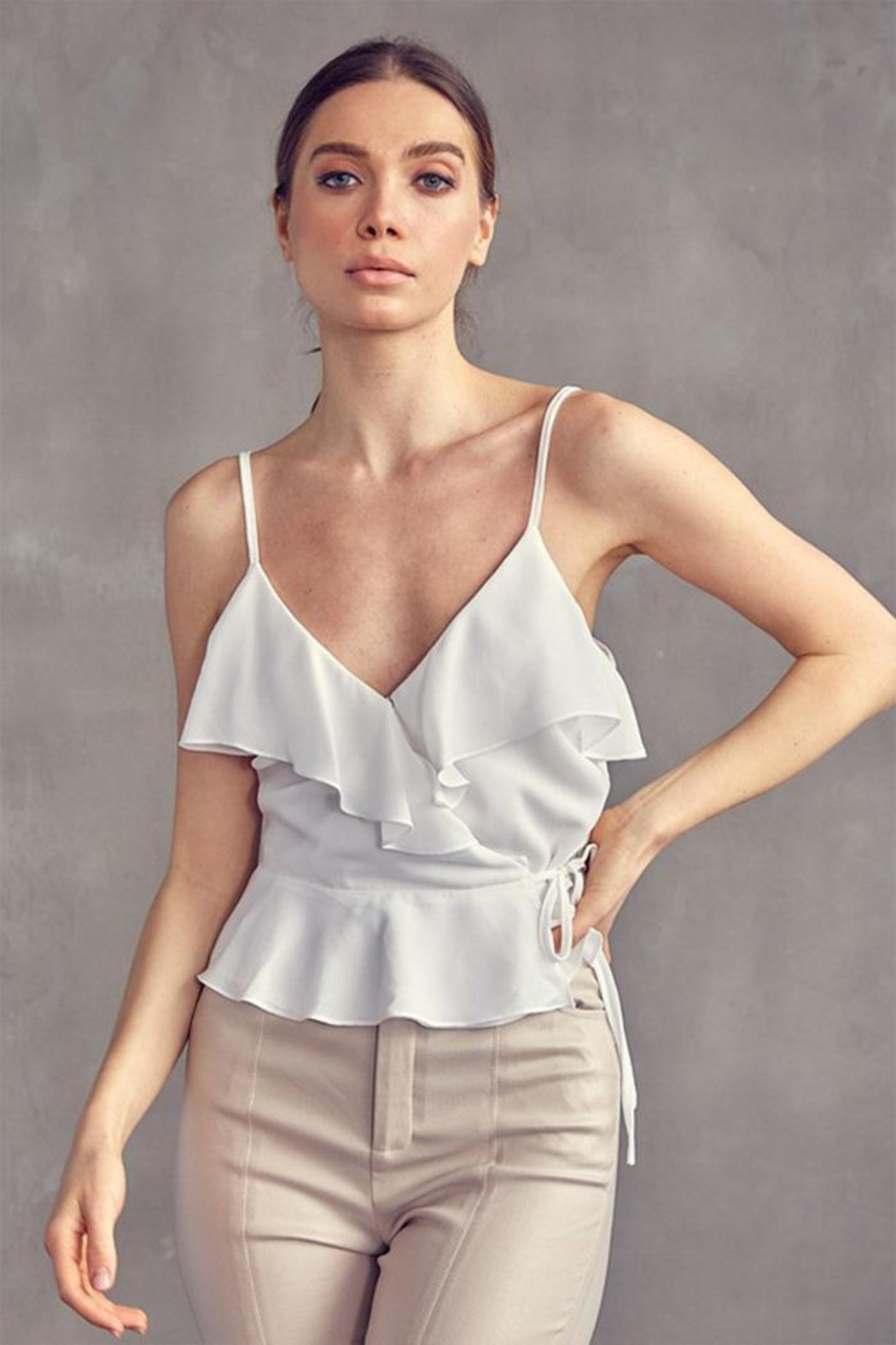 Idem Ditto  Wrap Cami Top - Front Cropped Image