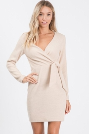 Idem Ditto  Wrap Sweater Dress - Product Mini Image