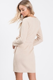 Idem Ditto  Wrap Sweater Dress - Back cropped
