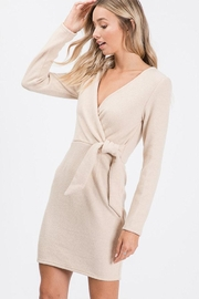 Idem Ditto  Wrap Sweater Dress - Front full body