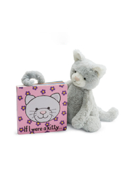 Jellycat  IF I WERE A KITTY BOOK (GREY) - Product Mini Image
