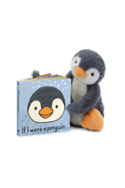 Jellycat IF I WERE A PENGUIN BOOK - Front full body