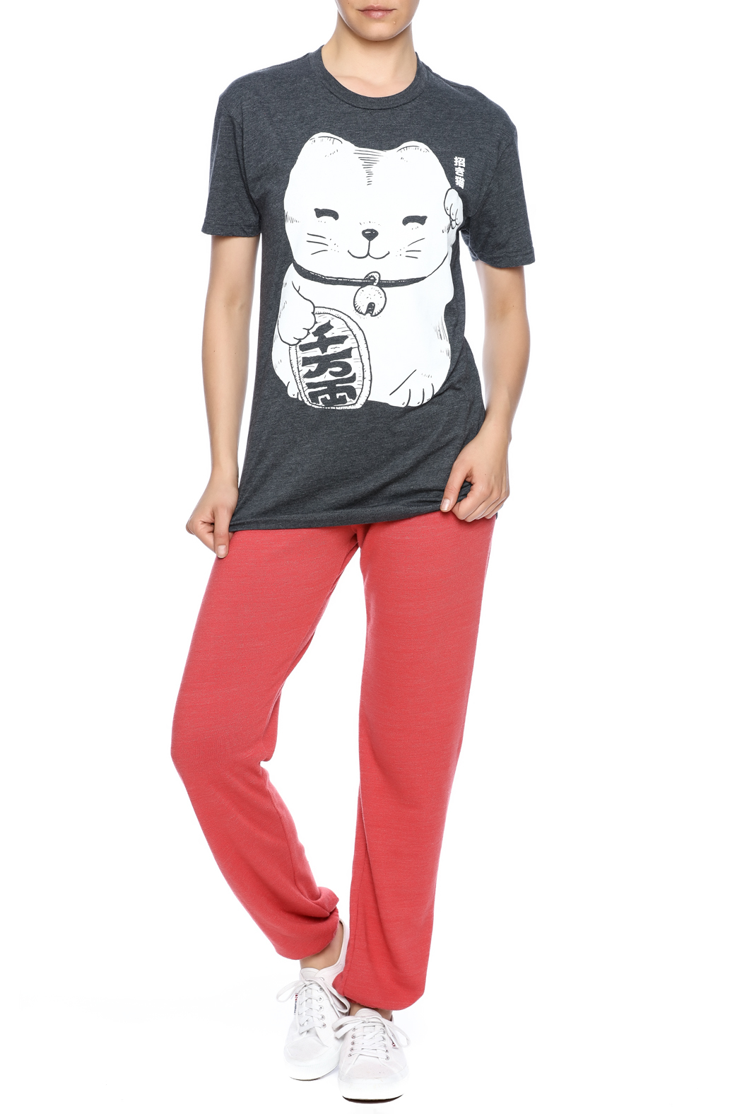 Iheart Fortune Cat Tee - Front Full Image