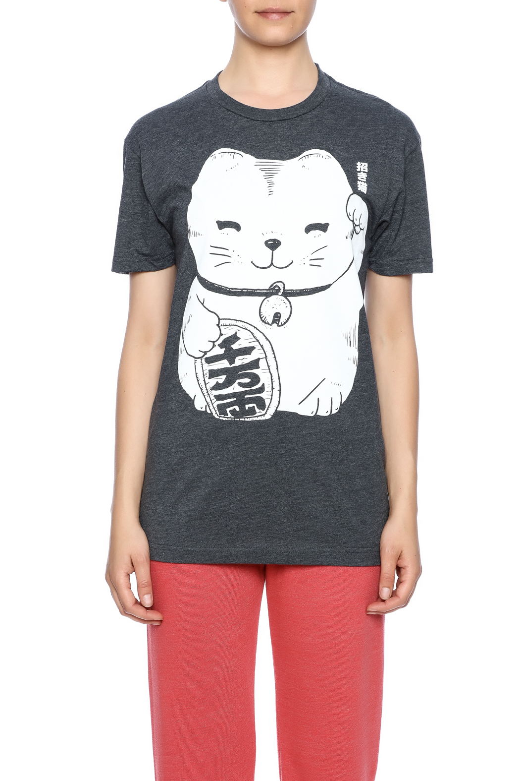 Iheart Fortune Cat Tee - Side Cropped Image