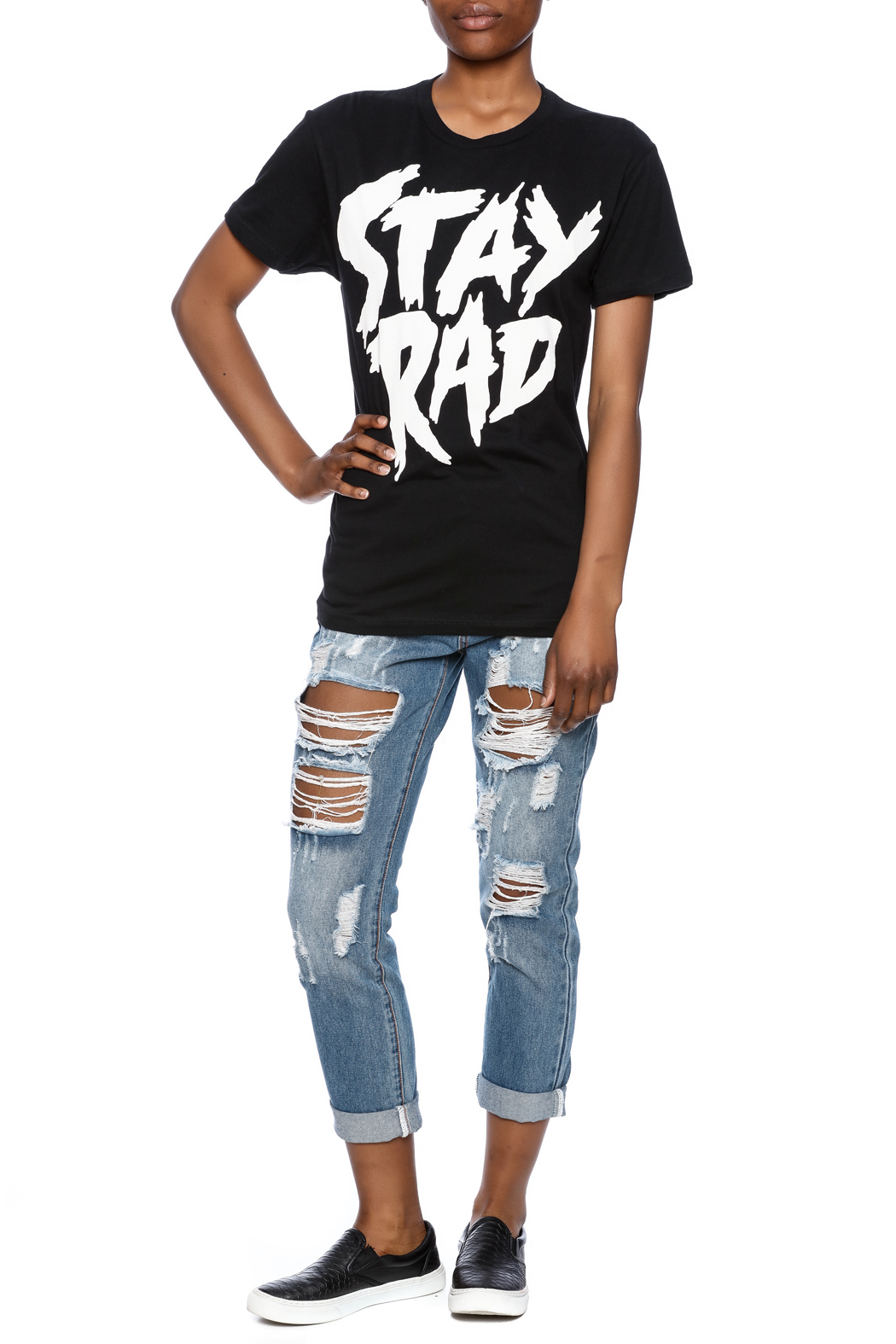 Iheart Stay Rad Tee - Front Full Image