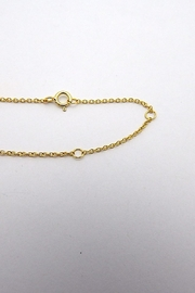 Iishii Gold Disk Necklace - Side cropped