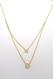 Iishii Gold Disk Necklace - Front full body
