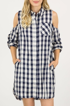 ijoah Checkered Shirt Dress - Alternate List Image